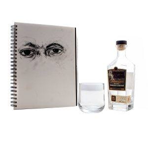 Lot #23 – Candyman Anthony McCoy Yahya Abdul-Mateen II Screen Used Sketch Book Whiskey Bottle & Glass Cup