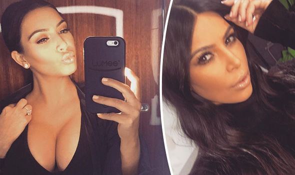 Kim Kardashian flaunts serious cleavage as she strips off for sexy swimwear shoot