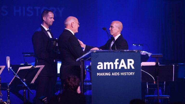 "Jeffrey Katzenberg Takes Aim at Trump at amfAR Gala: ""Demagogues Have Had Their Day"""