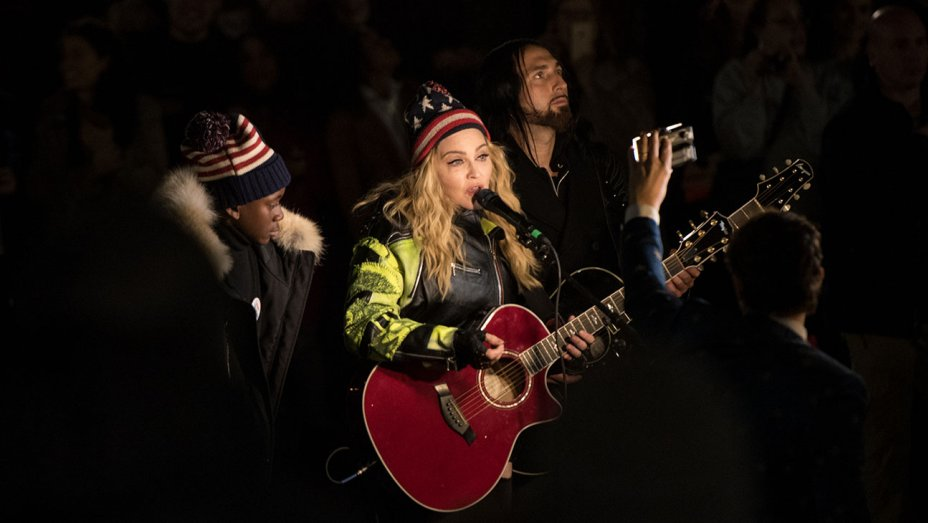 Madonna Gives Surprise Performance in Support of Hillary Clinton