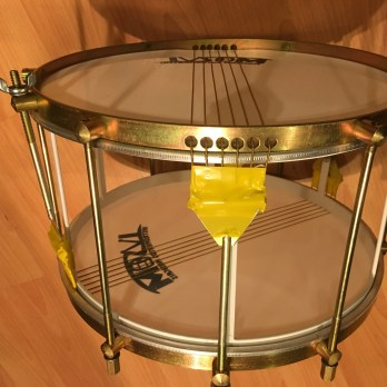 Ivsom 12″ skeleton caixa with double strings