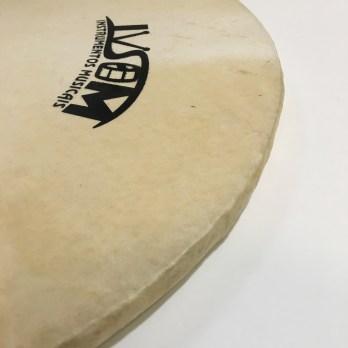 Ivsom Skin Head on wood hoop, 16-24″