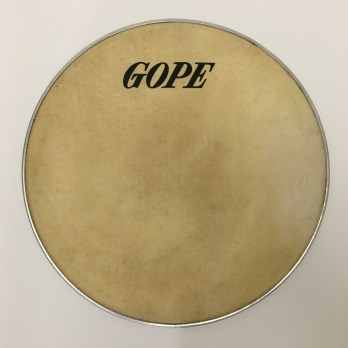 Gope skin head on aluminum hoop, 12-14″