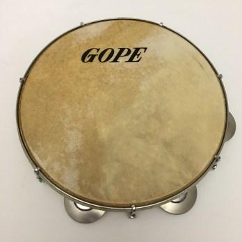 """Gope 10"""" pandeiro, wood shell, skin head, """"titanium"""" jingles"""