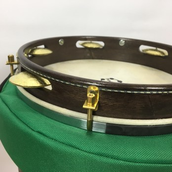 PandeirAR Choro model 10″ pandeiro with case