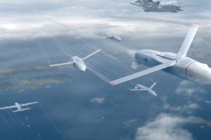 """DOD launches swarming drone in test of C-130 """"drone mothership"""" concept"""