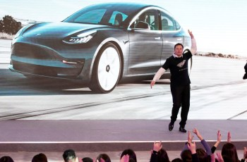 Elon Musk stripteases for Tesla Model Y launch in China