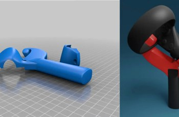 Engineers design 3D-printed table tennis paddles for Oculus Touch controllers
