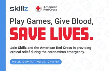 Skillz launches mobile game tournaments to raise donations for American Red Cross