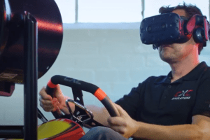 Racing sim company makes VR kart rig with haptic controls