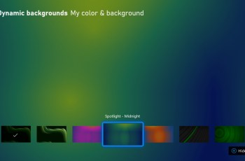 Xbox update begins rolling out with new dynamic backgrounds and more