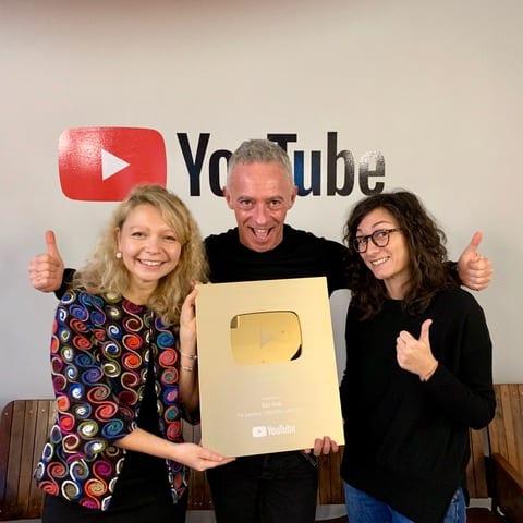Ego Italy receives gold button