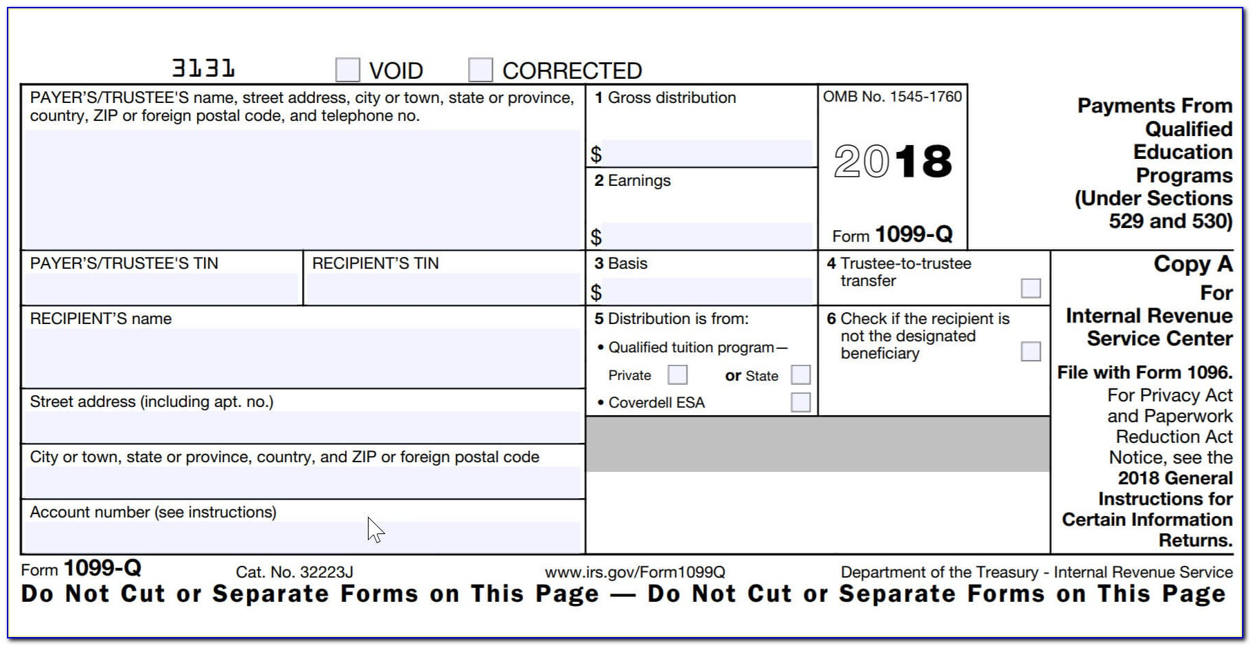 1099 Misc Fillable Form 2017 Free