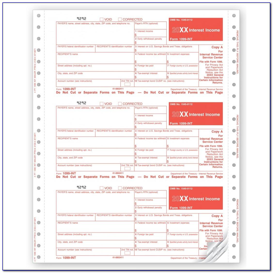 1099 Tax Form Printable