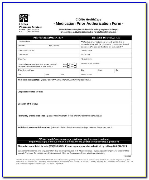 Aarp Medicare Medication Prior Authorization Form