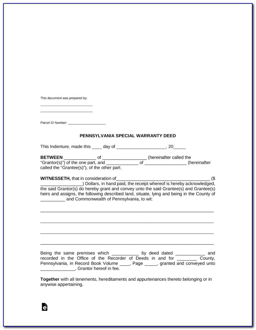 Arizona Warranty Deed Form Pdf