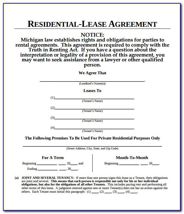 Blank Lease Addendum Form