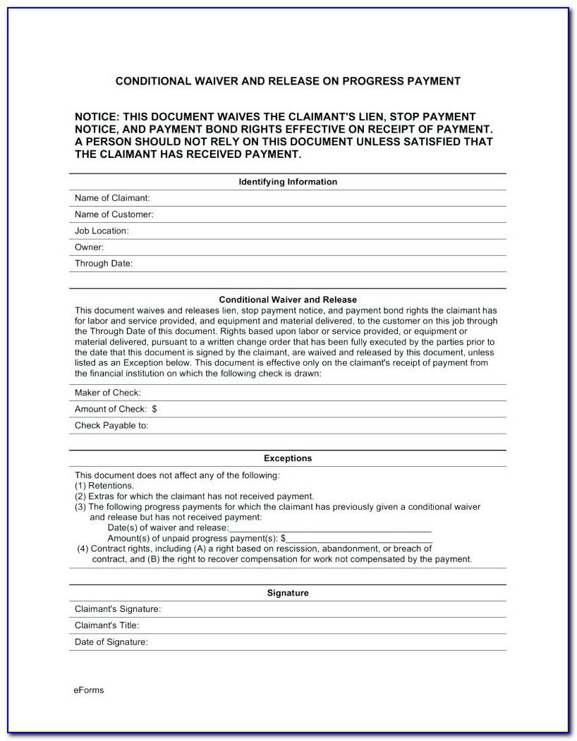 Contractor Lien Waiver Form Illinois