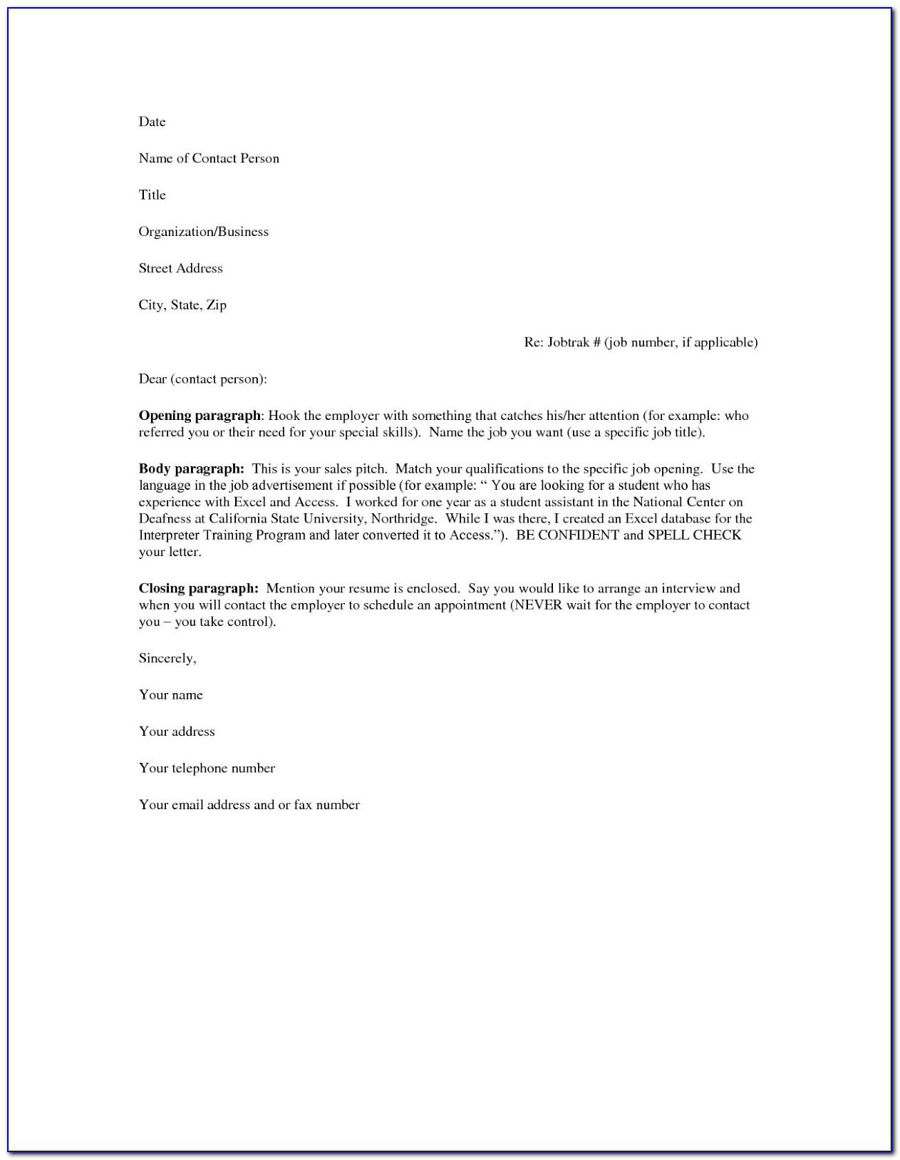 Cover Letter For Resume Samples Free