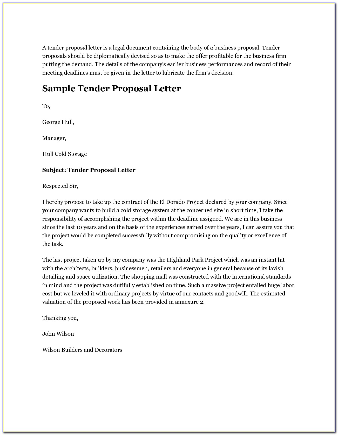 Covering Letter For Tender Proposal - Cover Letter : Resume ...