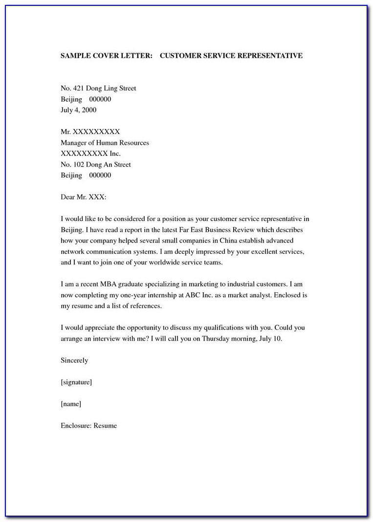 Customer Satisfaction Survey Cover Letter Sample Customer Service Cover Letter
