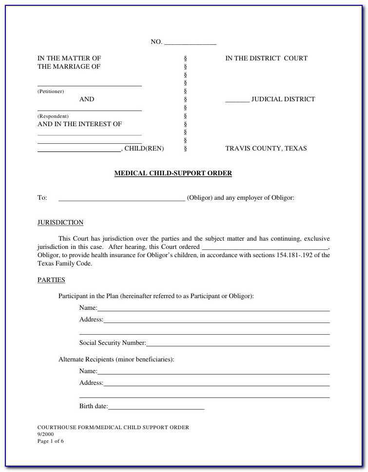 Dallas County Probate Court Forms