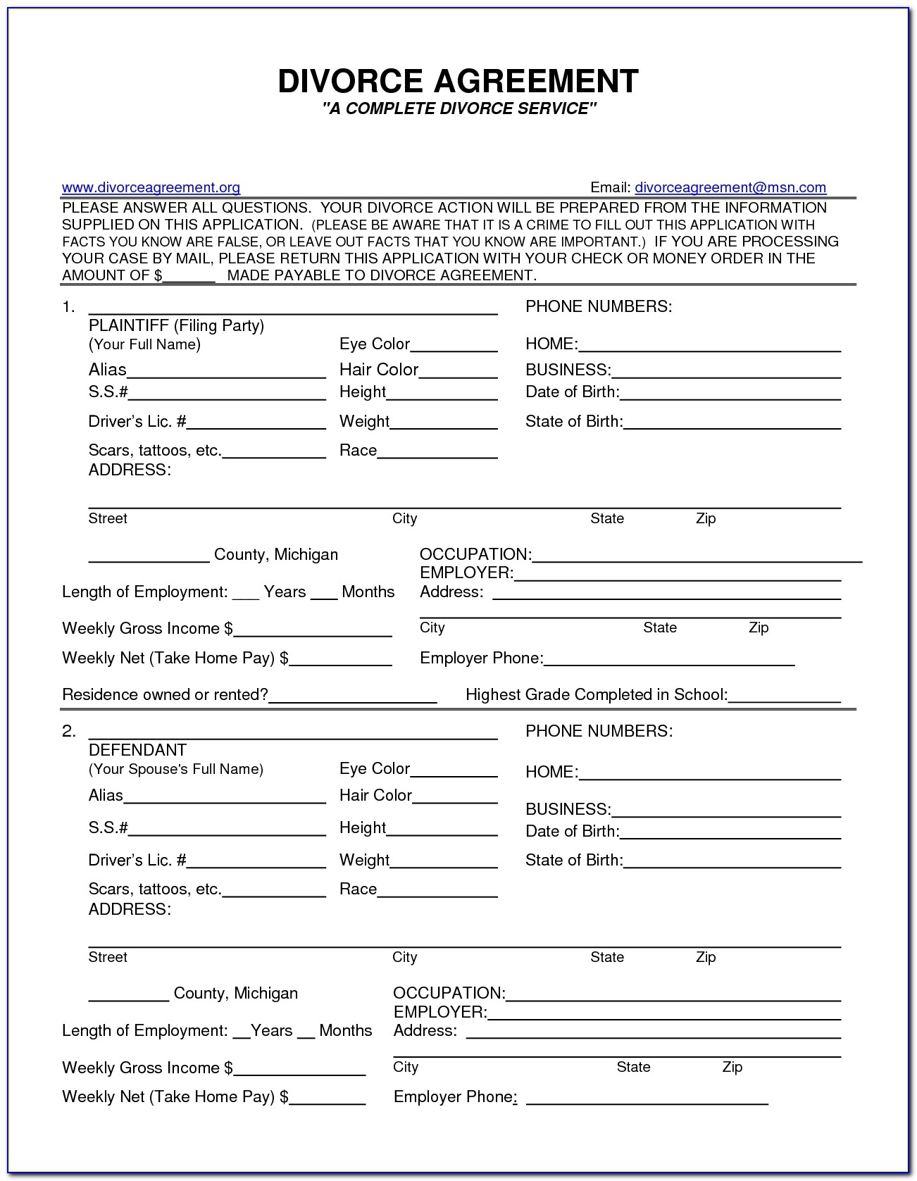 Fake Divorce Papers Pdf Worksheet To Print Fake Divorce