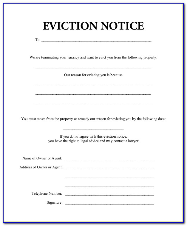 Eviction Notice Forms California