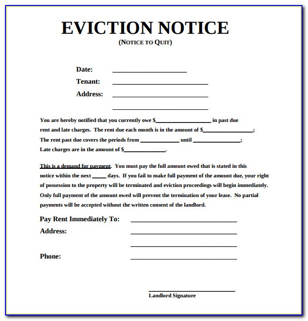 Eviction Notice Forms Ontario