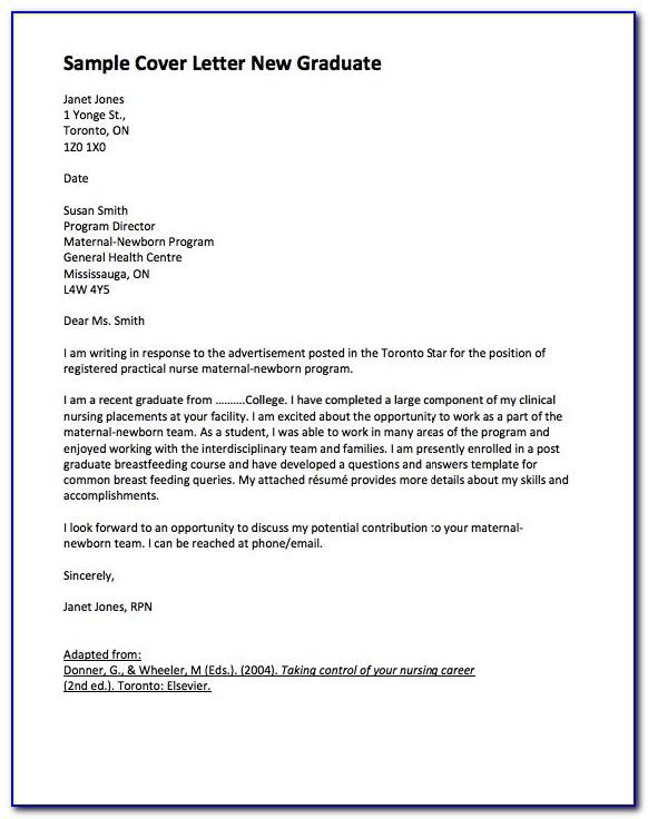 Cover Letter Sample For Resume Fresh Graduate - Cover Letter ...