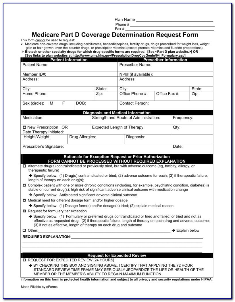 Fidelis Medicare Prior Authorization Form For Medication