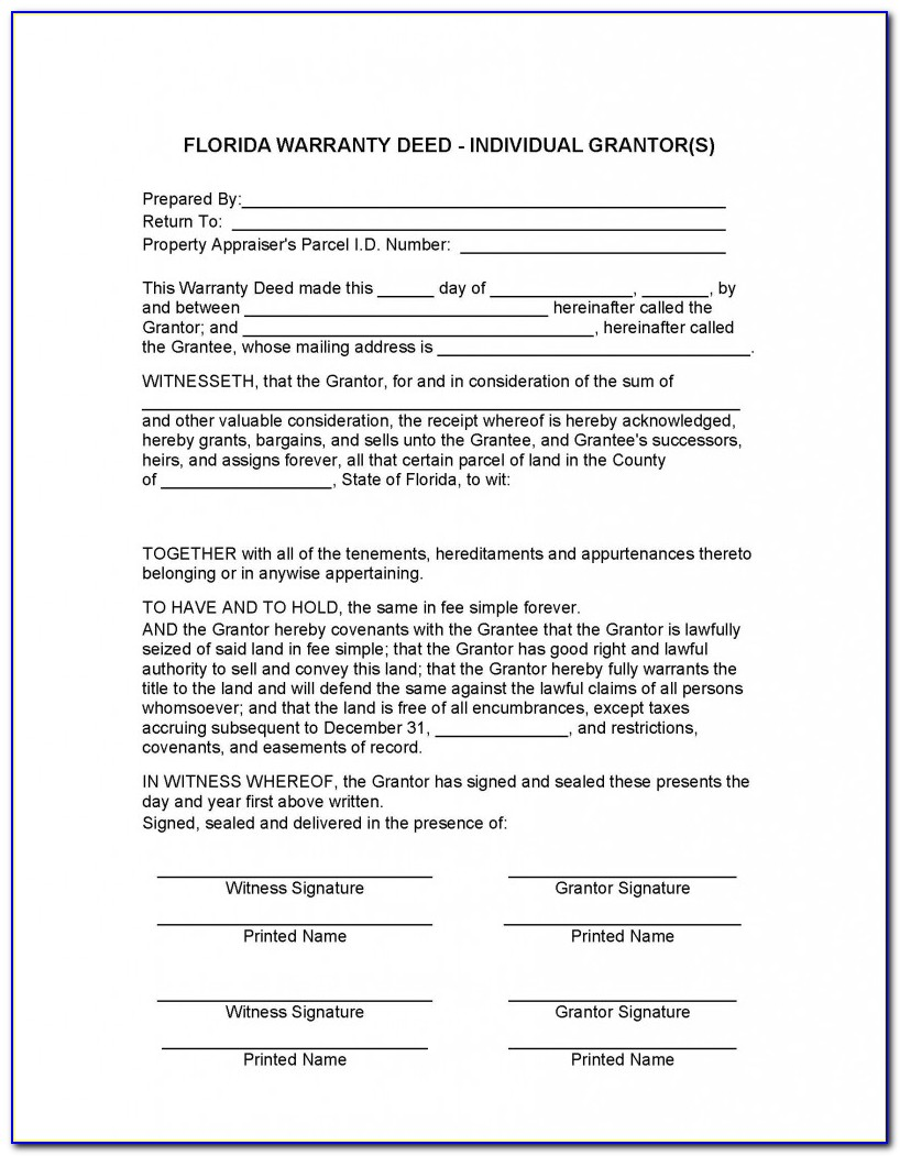 Florida Lady Bird Deed Form Pdf