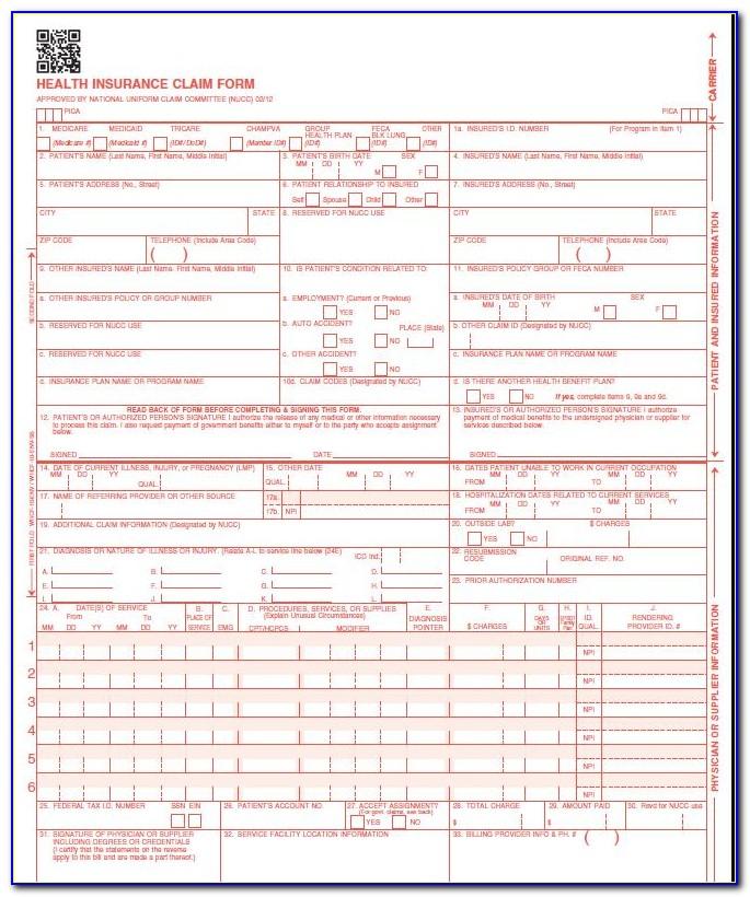 Form Hcfa 1500