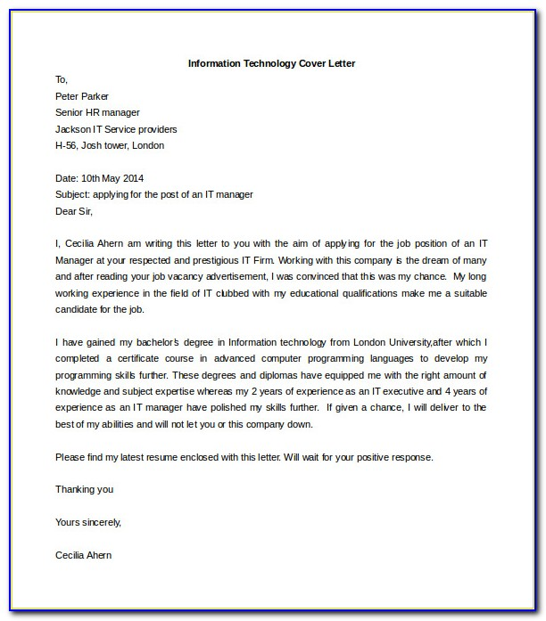 Free Cover Letter Download Template