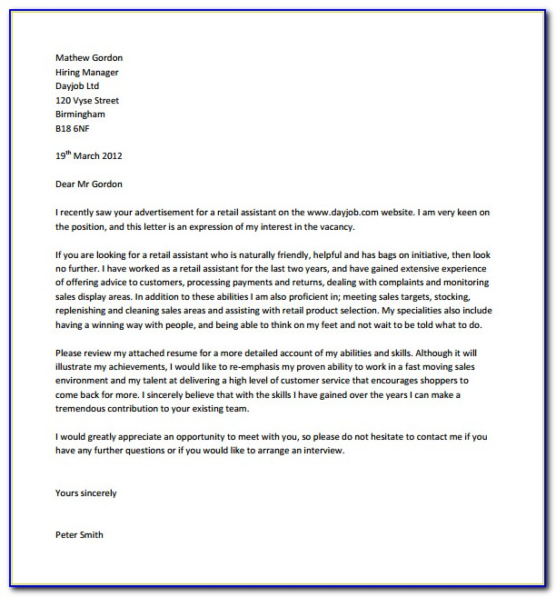 Free Download Cover Letter Template Microsoft Word