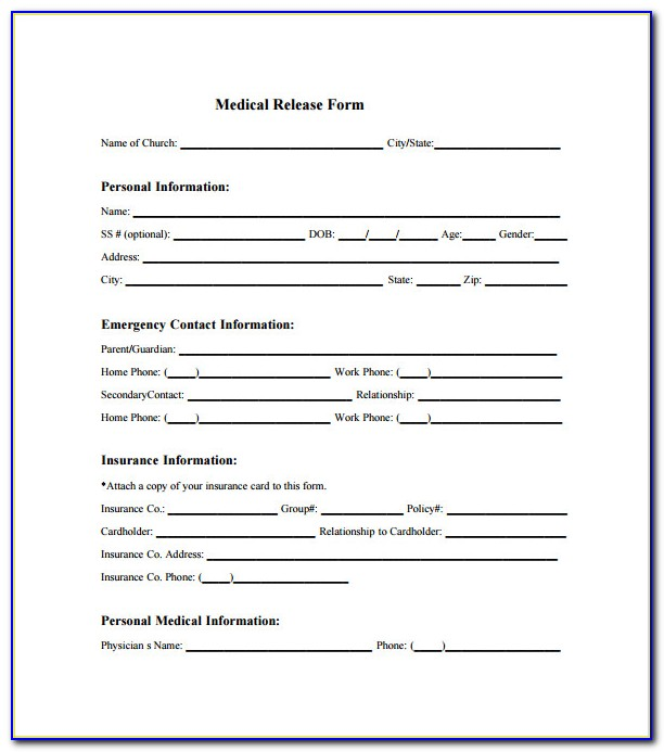 Free Printable Medical Consent Form Template
