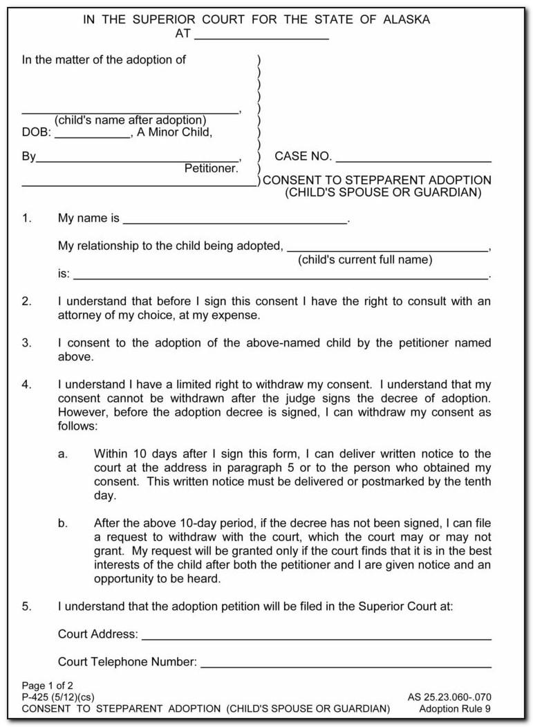 Free Stepparent Adoption Forms Oklahoma Form Resume