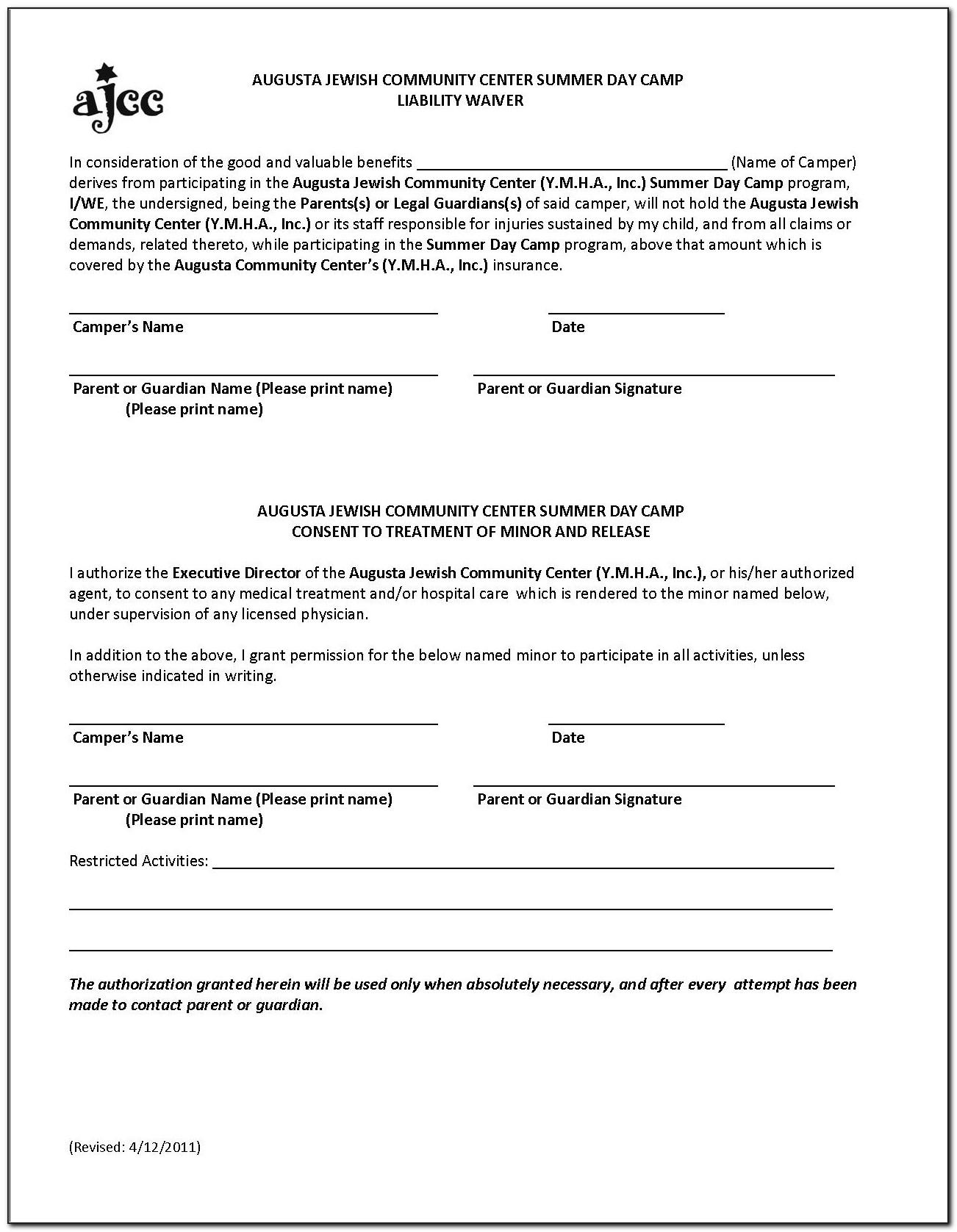 Free Yoga Liability Waiver Form