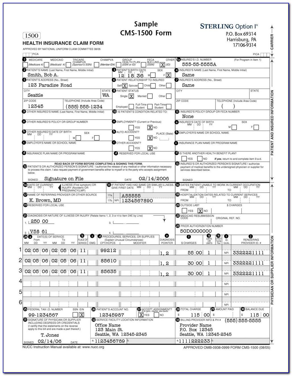 Hcfa 1500 Form Free Download