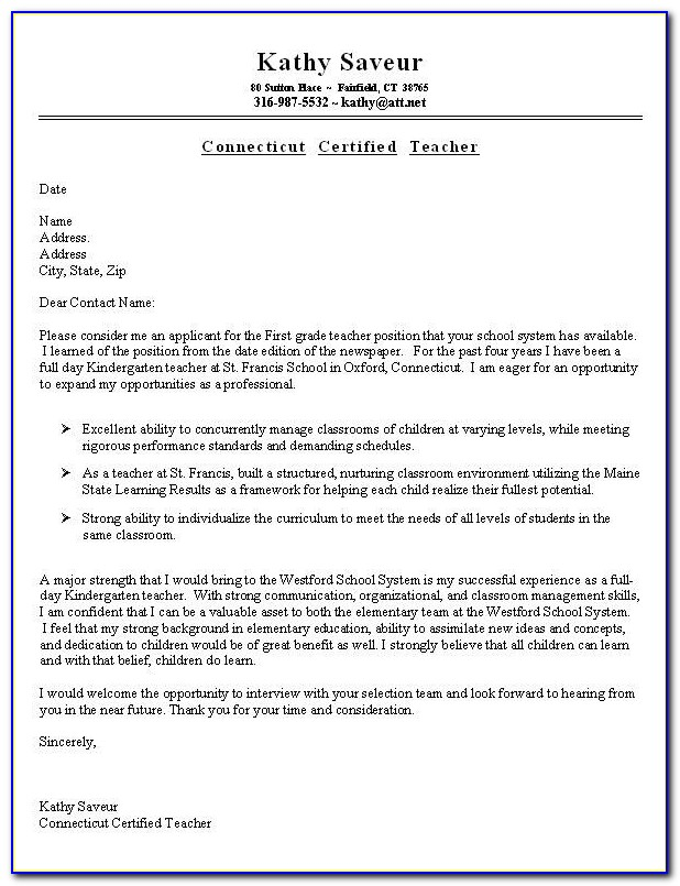 How To Create A Good Cover Letter For A Resume