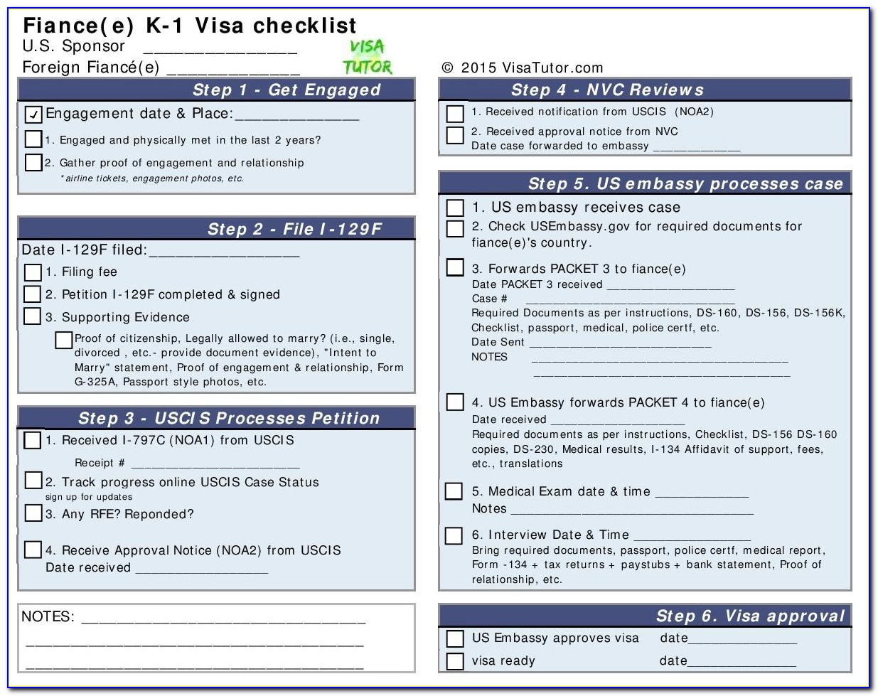 K1 Visa Application Forms