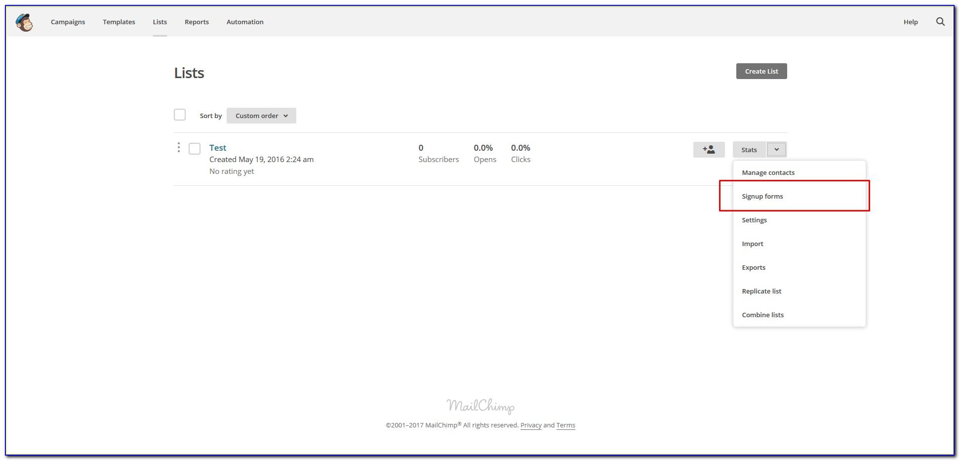 Mailchimp Form Builder Code