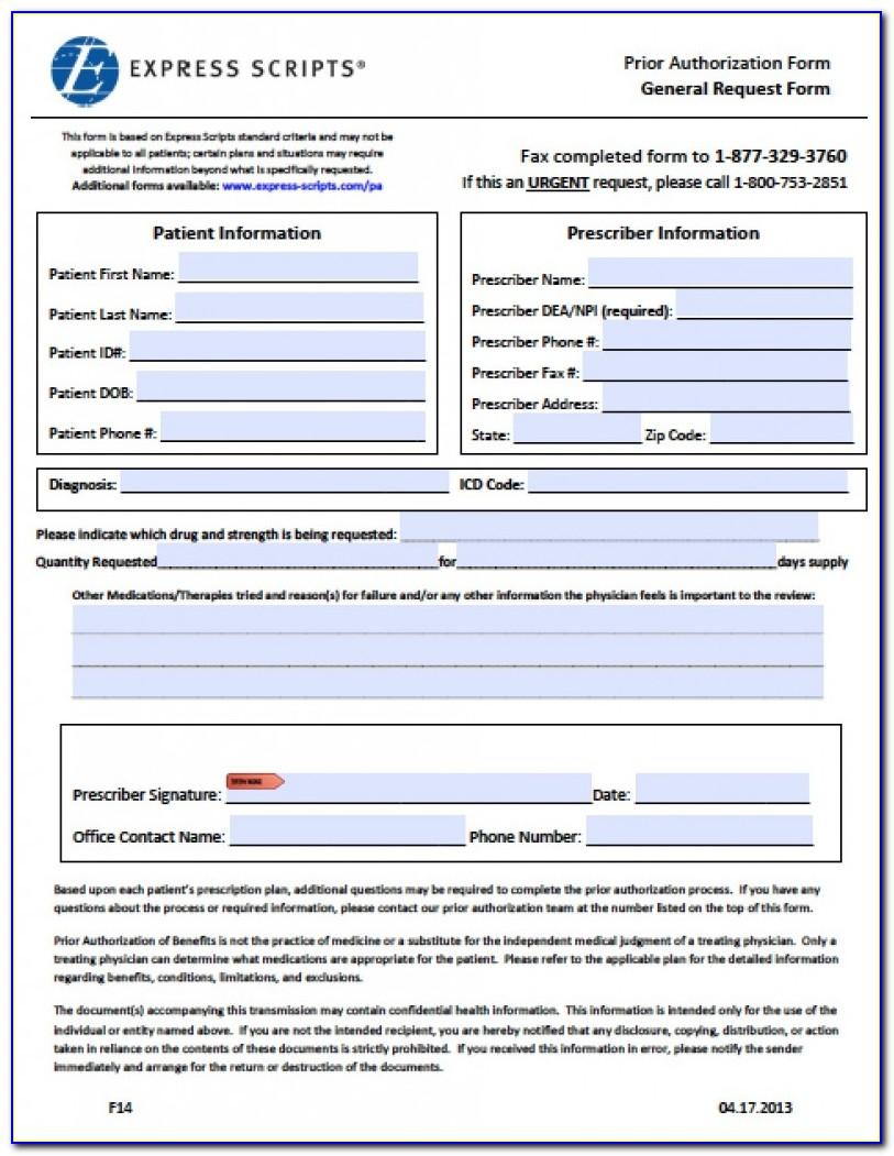 Medco Prior Auth Form Medication