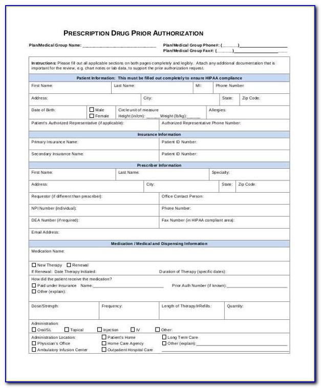 Medco Prior Authorization Form Request Us