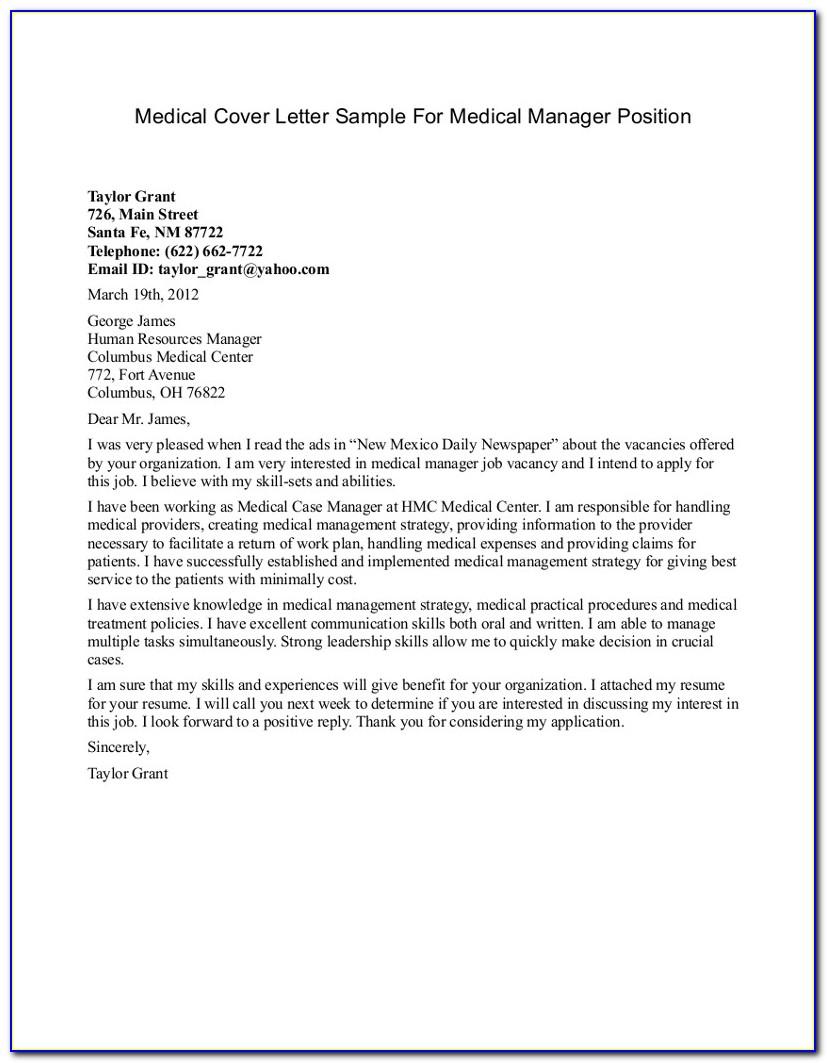 Medical Assistant Cover Letter Samples Free