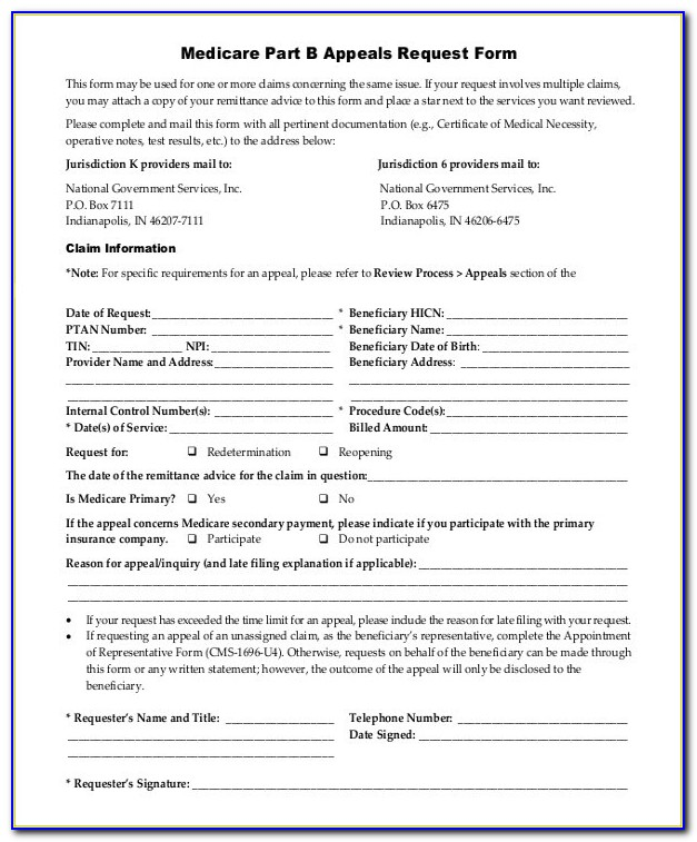 Sample Medicare Form – 8+ Examples In Word, Pdf Within Medicare With Medicare Part B Form