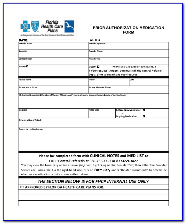 Medicare Prior Authorization Form For Medication