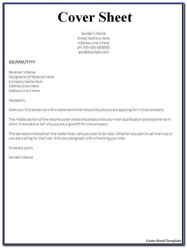 Microsoft Word Resume Cover Letter Template Free