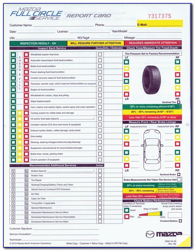 Multi Point Inspection Form Pdf