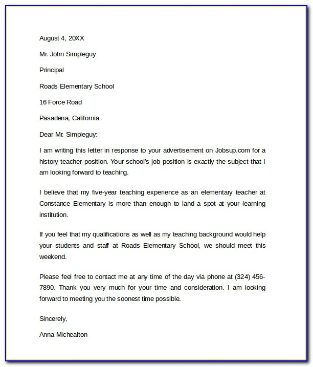 Professional Cover Letter For Resume Sample
